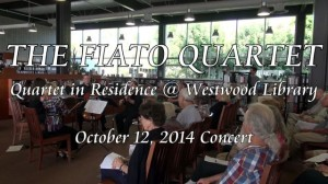 Quartet in Residence @ Westwood Library, 10/12/2014